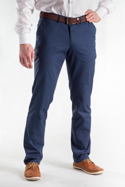 3d16cc7df86db Cienkie spodnie granatowe slim - Chinosy męskie